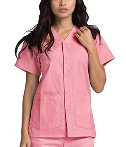 Adar Universal Double Pocket Snap Front Top  - 604 - Dusty R