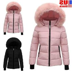 us women fur collar winter warm thicken