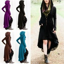 US Womens Coats Long Sleeve Big Hood Cardigan Medieval Hallo