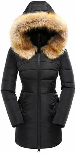 Beinia Valuker Women's Down Coat with Fur Hood, We Have All