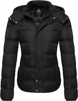 Wantdo Women's Hooded Warm Winter Coat Quilted Thicken Puffe