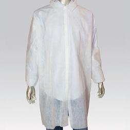 Royal Large White Poly Pro Lab Coats, Pack of 30, LC0-ENW-L