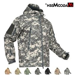 Windproof Tactical Soft Shell Mens Jacket Coats Army Militar
