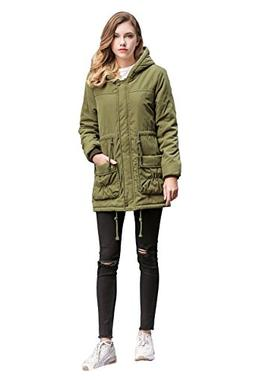 ACE SHOCK Winter Coats for Women Hooded, Faux Fur Lined Park