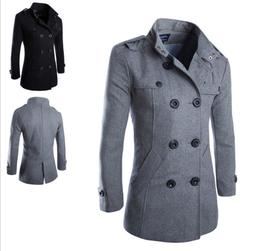 Fashion Men's Winter Warm Overcoat Wool Coat Trench Coat Out