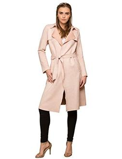 Made By Johnny WJC1539 Womens Suede Coats Long Duster Jacket