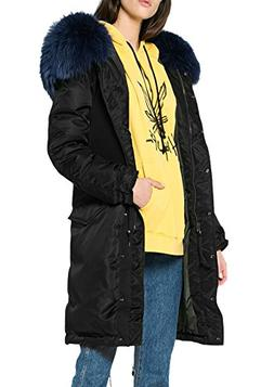 df2d76c23996 Roiii Women Casual Winter Warm Thicken Black Shade Faux Fur