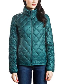 XPOSURZONE Women Packable Down Quilted Jacket Lightweight Pu