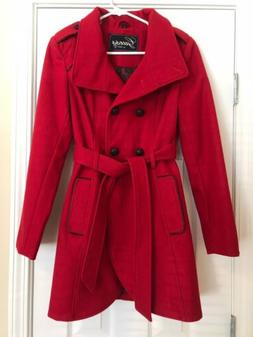 Women's GUESS Brand Wool Peacoat w/ Toggle Buttons, Size Med