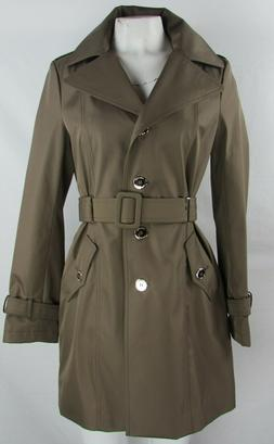Calvin Klein Women's Brown Trench Coat w/Removable Hood