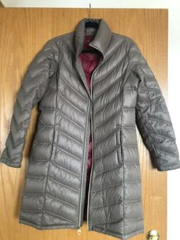 Women's Calvin Klein Chevron-Quilted Packable Down Coat