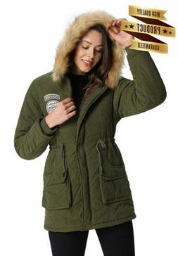 iLoveSIA Women's Coat Faux Fur Lined Hood Jacket