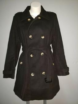 Wantdo Women's Double-Breasted Coat with BeltBlack Medium
