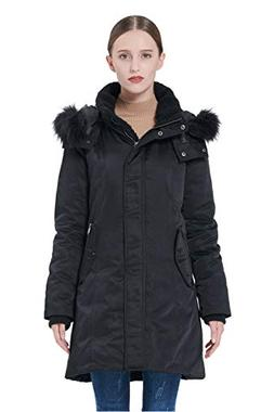 Orolay Women's Down Jacket with Removable Hood Winter Down C