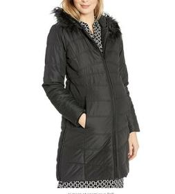 Motherhood Maternity Women's Expandable Quilted Hooded Puffe