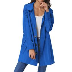 Beyove Women's Lightweight Lapel Collar Outdoor Coat Windpro