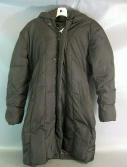 Calvin Klein Women's  Long Quilted Down Puffer Coat Heavy Wi