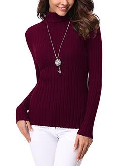 Abollria Women's Long Sleeve Solid Lightweight Soft Knit Moc