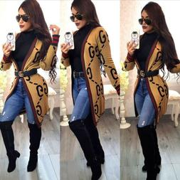 Women's Loose Casual Long Sleeve Open Front Breathable Cardi
