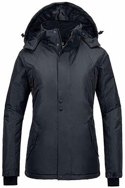 Wantdo Women's Mountain Rain Jacket Windproof Ski Coat Water