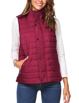 Beyove Women's Outdoor Puffer Vest Lightweight Packable Wint