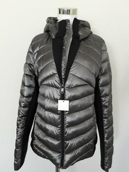 Calvin Klein Women's packable Puffer Hooded Coat Titanium Bl