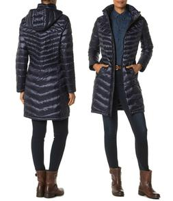 Calvin Klein Women's Packable Quilted Hooded Down Puffer Coa