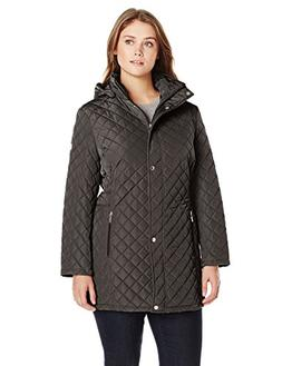 Calvin Klein Women's Plus-Size Classic Quilted Jacket with S