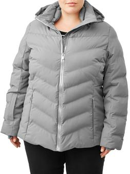Time and Tru Women's Plus Size Puffer Coat w/ Removable Hood