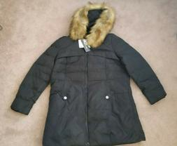 Women's Valuker Quilted Down Jacket Coat Removable Faux Fur