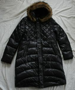 Wantdo Women's Quilted Puffer Faux Fur Hooded Long Coat Jack