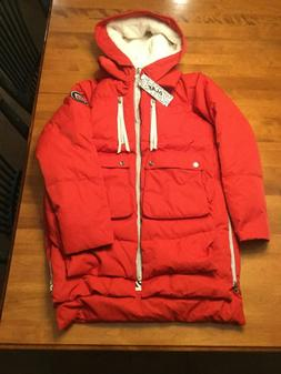 """Orolay Women's Small Red Olay Thickened Down Jacket """"Amazon"""