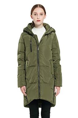 Orolay Women's Stylish Thickened Down Jacket Hooded Coat Arm