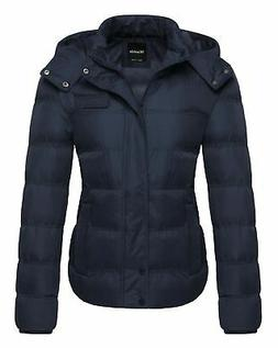Wantdo Women's Thick Winter Coat Quilted Puffer Jacket with