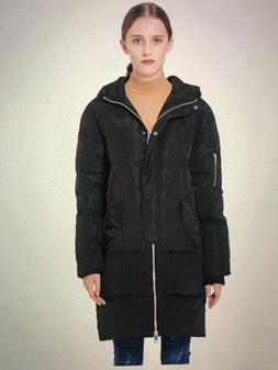 Orolay Women's Thicken Down Jacket Hooded Coat - Size S - BR