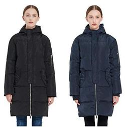 Orolay Women's Thicken Down Warm Jacket Hooded Winter Coat P