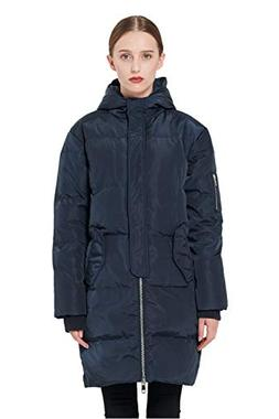 Orolay Women's Thicken Plus Size Down Jacket Hooded Coat Nav