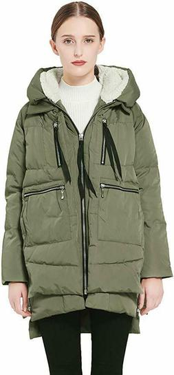 Orolay Women's Thickened Down Jacket in Olive Green 10689 Si