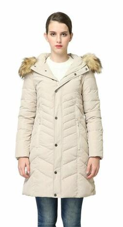 Orolay Women's Thickened Mid-Long Down Jacket With Hood YRF8