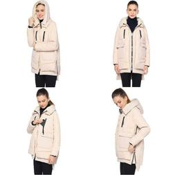Abollria Women's Thickened Parka Coat Winter Down Jacket wit