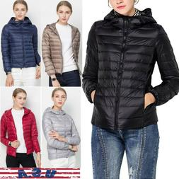 women s ultralight hooded down jacket puffer