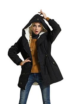 Eleter Women's Winter Warm Coat Hoodie Parkas Overcoat Fleec
