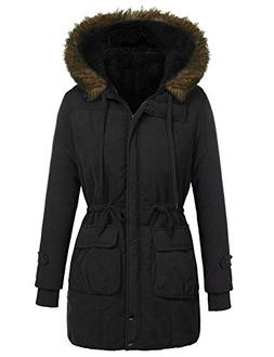 Beyove Women's Winter Warm Lined Parkas Coat with Fur Trim H