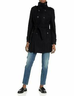 Calvin Klein Women's Wool Belted Double Breasted Coat - Choo