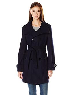 women s wool belted double breasted coat