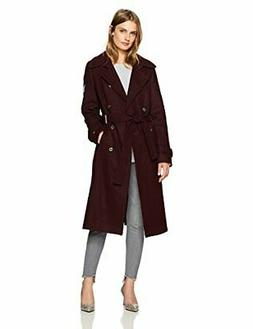 Tommy Hilfiger Women's Wool Blend Military Trench Coat, Aube