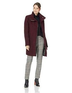 Calvin Klein Women's Wool Coat with Tunnel Collar and, Chian