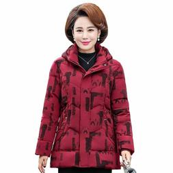 Women Winter Down Jacket Parkas Hooded Thick Warm Coat Outer