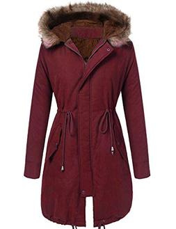 Beyove Women Winter Warm Hoodie Faux Fur Lined Down Parka Ou
