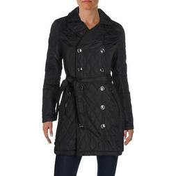 Urban Republic Womens Black Quilted Coat Anorak Jacket Outer